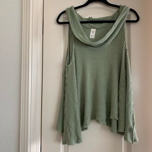 [M] Cowl Neck Free People Tank - Olive